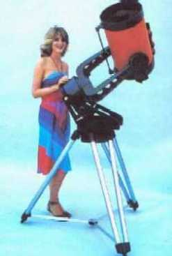 Fantasy view of women and telescopes